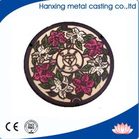 Ductile Cast Iron Decorative Manhole Cover EN124 D400