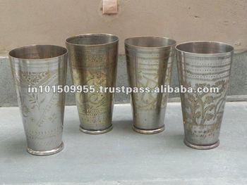 Vintage Bronze Glas Fur Kuche Dekoration Indische Lassi Glaser Buy