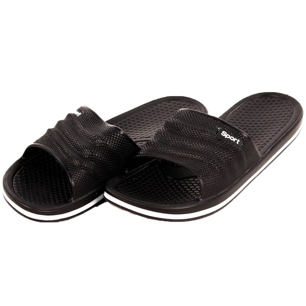 bf89c9920d23 Get Quotations · 7 Size(us) Black Color - Mens Slip on Sandals Sport Slide  Flip Flop