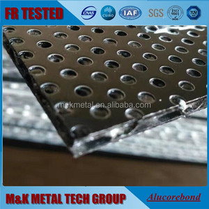 4mm Acoustic punching fireproof honeycomb/corrugated Aluminum core composite panel/ACP/ACM/ACCP
