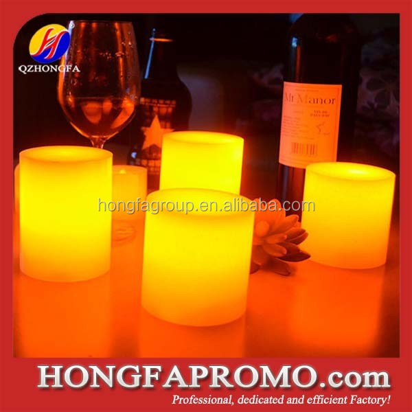 Pillar Moving wick Yellow Led Flameless Candle