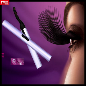 women Long Lasting bigeye care beauty Portable electric heated eyelash curler with comb design