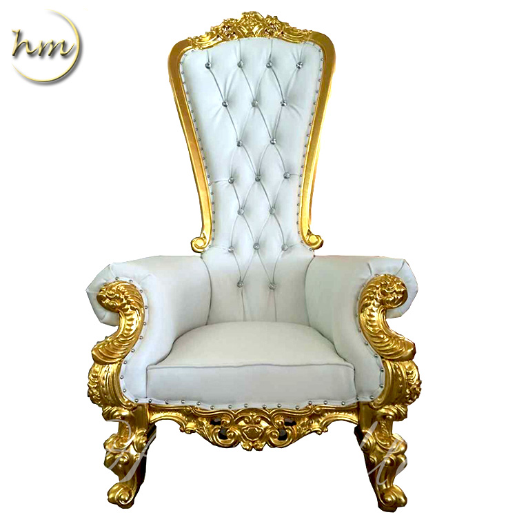 Gold Royal Queen Throne Chair For Wedding Party Quinceaneras Gift