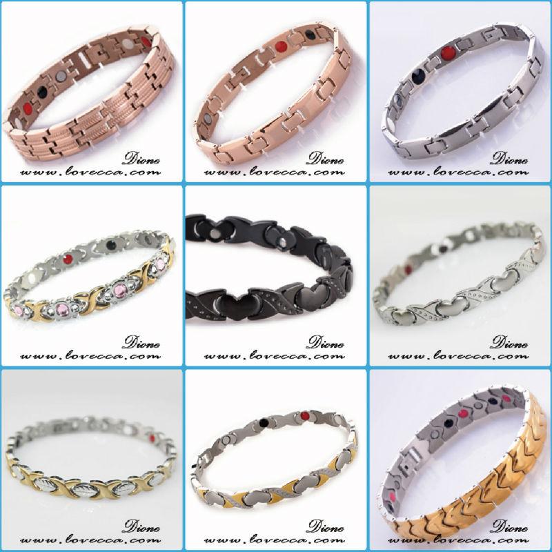 Private Label Fashion Tantium Jewelry Arthritis Biobracelets For Men Bangle Magnetic Bracelet