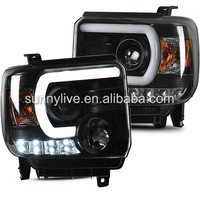 For GMC Sierra 2014-UP LED HEAD LAMP SN