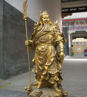 High Quality Life Size Bronze Chinese God Guan Gong Yu Statue Sculpture