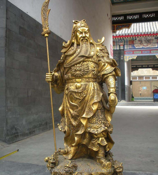 High Quality Life Size Bronze Chinese God Guan Gong Yu Statue Sculpture -  Buy Bronze Chinese God Statue Sculpture,Guan Gong Statue,Bronze Guan Yu