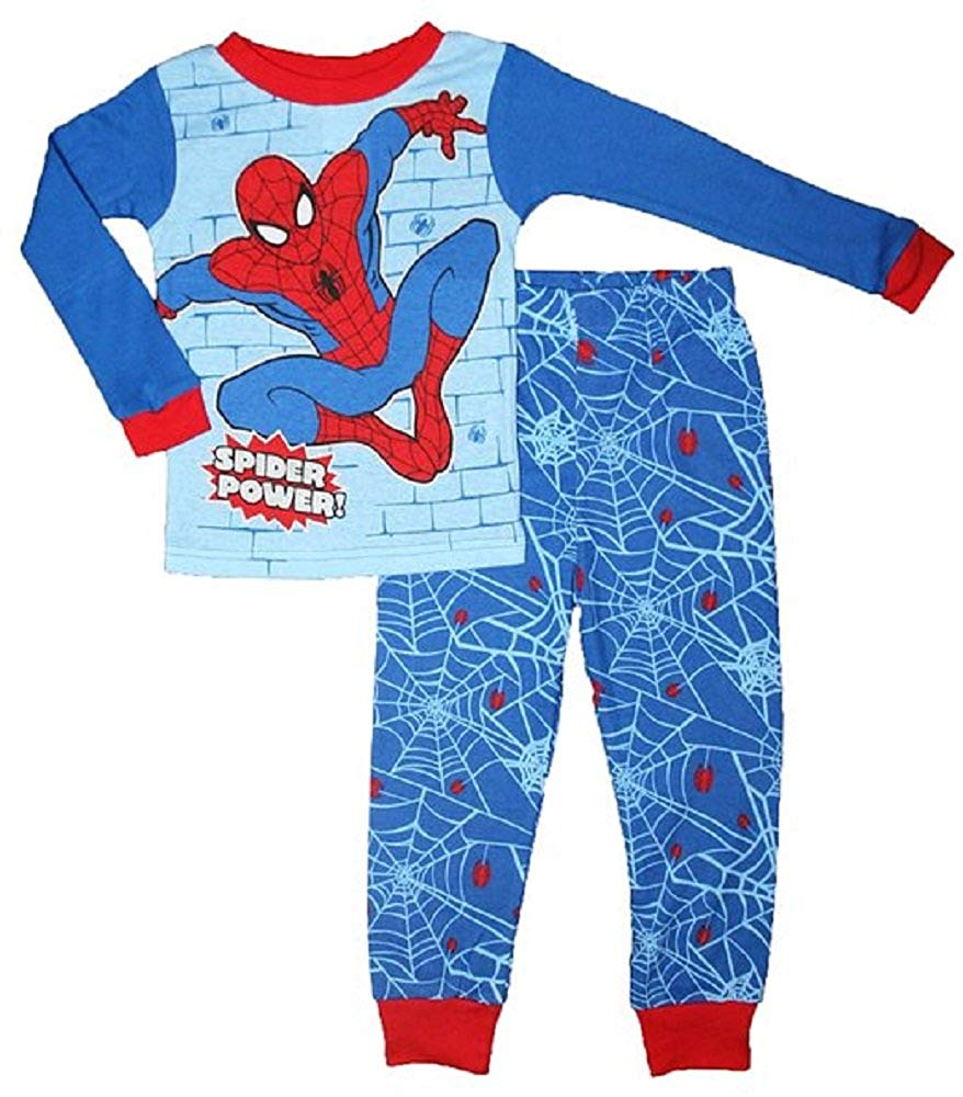 Marvel Comics Spiderman Boys character Pajama pants set (Red/Blue, 8)