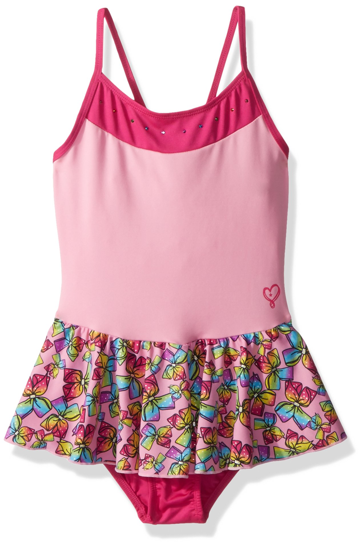 573ad3096a4e0 Get Quotations · Jojo Siwa By Danskin Big Girls' Rainbow Bows Dance Dress