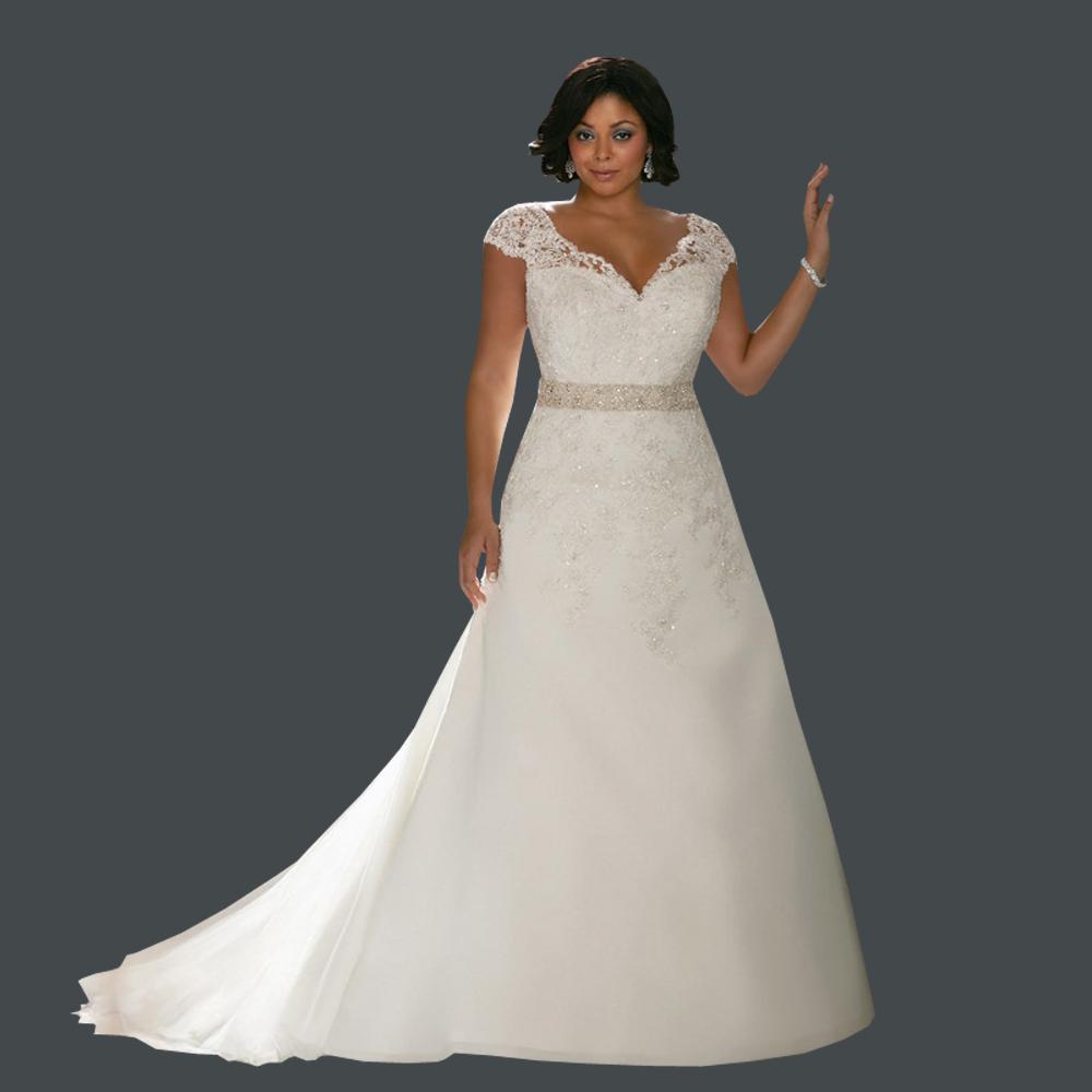 1d5dc8857ac76 V Neck Plus size wedding attire. plus length fancy dress yule