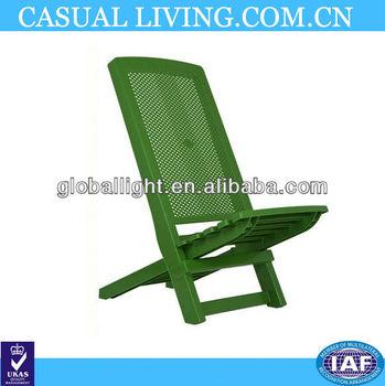 Folding Deck Beach Chair Plastic Compact Camping Travel Garden Seat Festivals