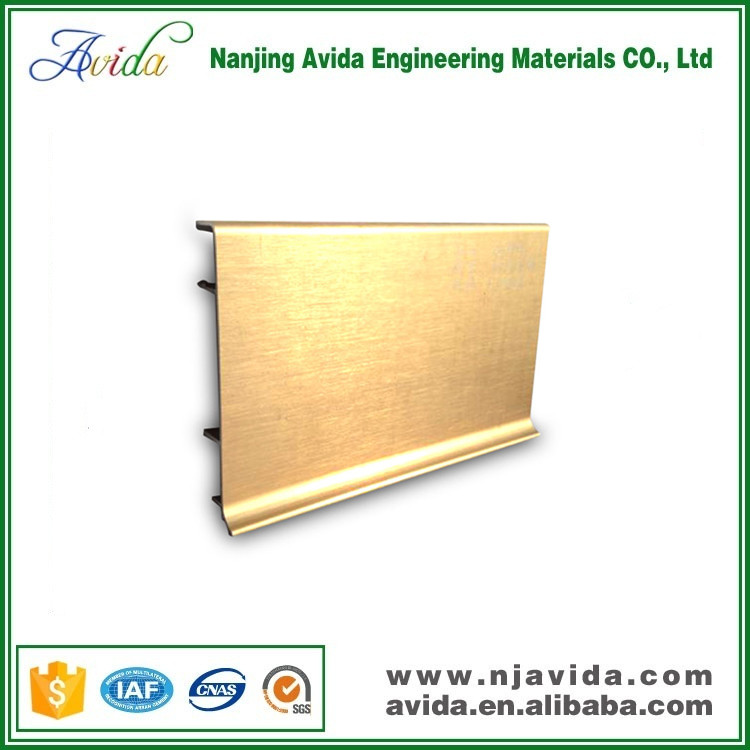 Decorative Titanium Golden Restaurant Aluminum Skirting Board in Wall