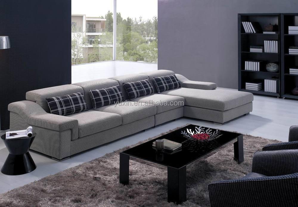 Modern Fabric Sofa/4 Seater Modular Brown Recliner Fabric Sofa Set Without  Arm