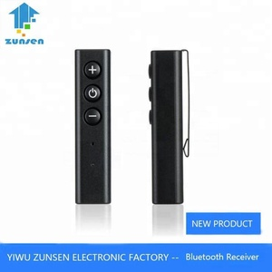 Good Quality Handsfree Mini Clip Bluetooth Receiver 3.5mm A2DP Music Audio Bluetooth Receiver V4.0 Wireless