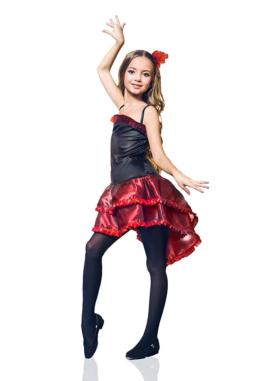 ff8423334 Girls' Gypsy Esmeralda Flamenco Spanish Senorita Dress Up Halloween Costume