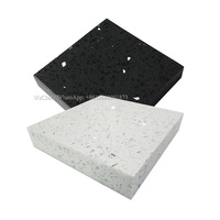 china cheap wholesale price black galaxy quartz countertop / stellar white quartz stone