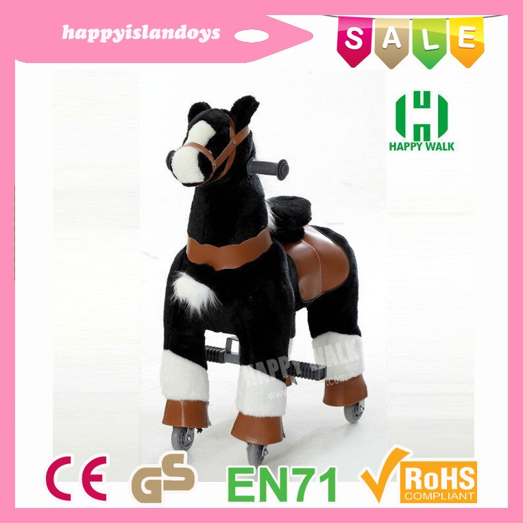 Guangzhou factory CE standard ride on horse toy pony popular plush kid ride on horse pony