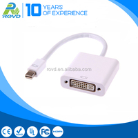 Mini DP male to DVI female cable for Connecting a computer and monitor