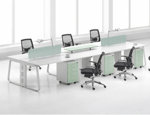 Wholesale Fashion Modular 6 person Office Workstation with Metal Legs