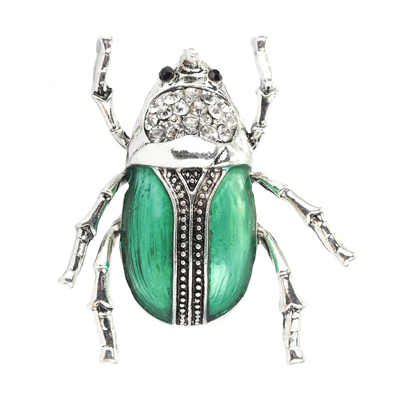 Broche insecte en cristal émaillé Vintage broche insecte scarabée insecte