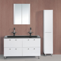 double sink bathroom vanity cabinet with mirror cabinet