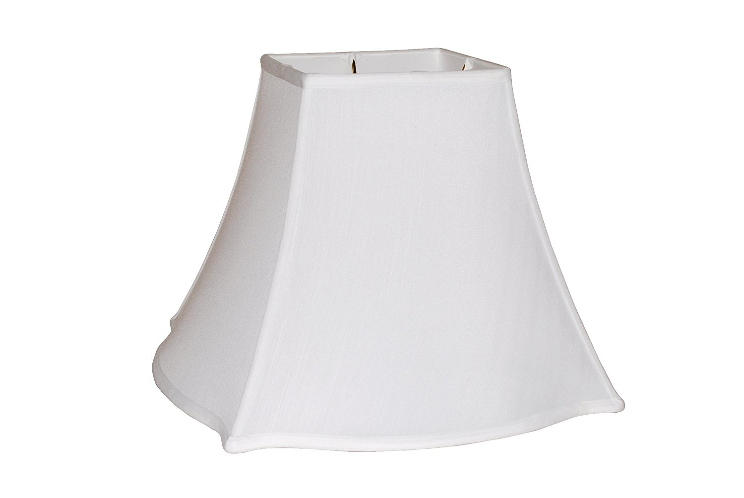 "16"" Anna white fancy square silk lamp shade"