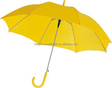 yellow color curve handle the color is same as top curved umbrella