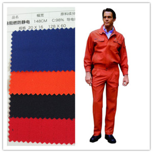 Flame Retardant Fire Resistant 100% Cotton Fabric for Uniform Safety Clothing