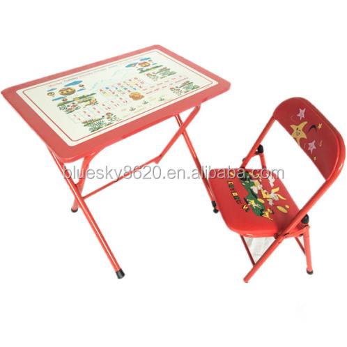 Cartone pieghevole in metallo studio per bambini tavolo e - Tavolo contenitore bambini ...