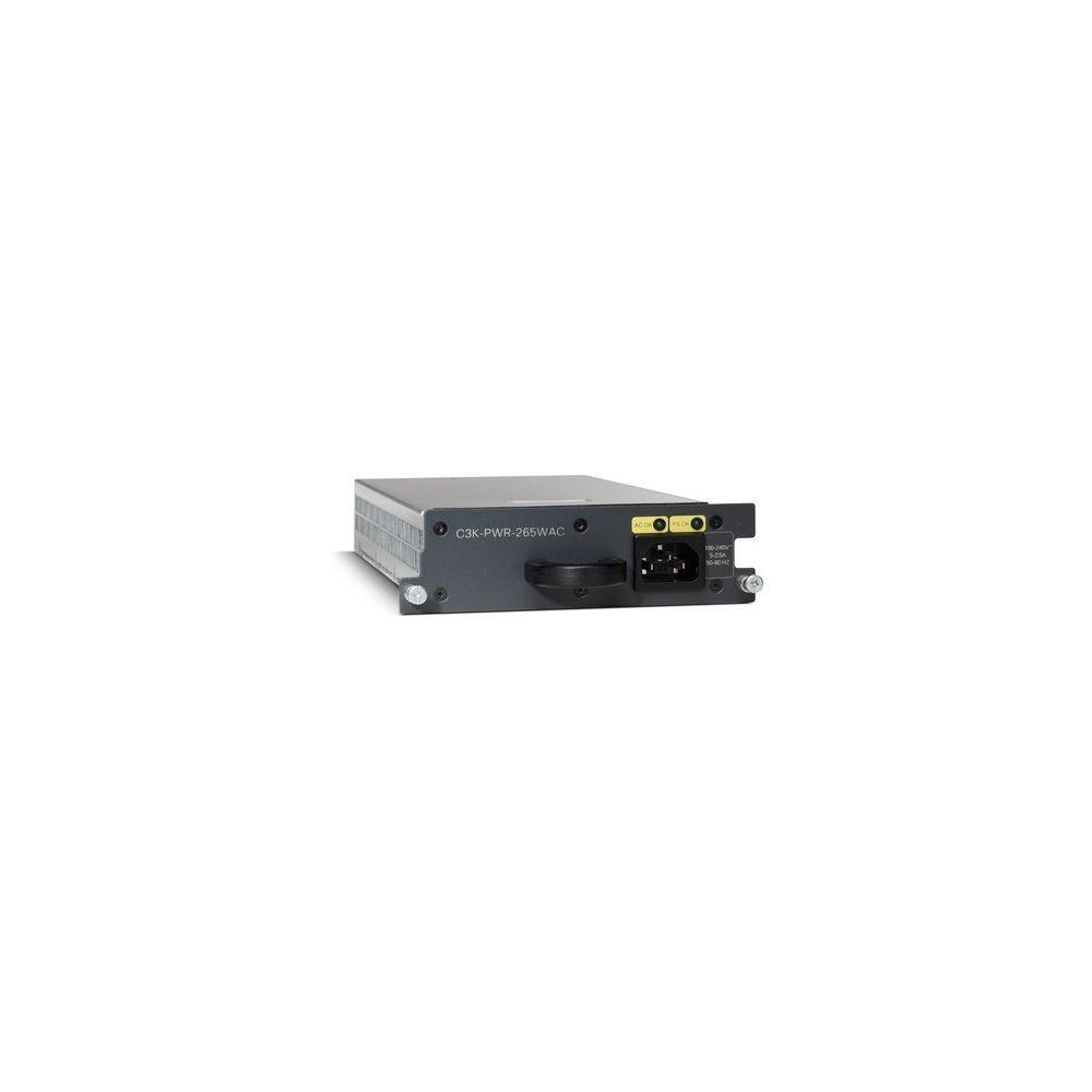 Cisco C3K-PWR-265WAC= Power supply - hot-plug ( plug-in module ) - AC 100-240 V - 265 Watt - for Catalyst 3560E-12, 3560E-24, 3560E-48, 3750E-24, 3750E-48
