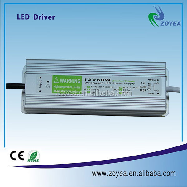 12V 60W constant voltage adapter for neon light