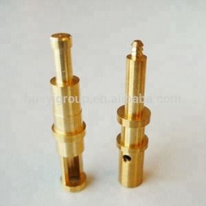 Custom brass / stainless steel electrical spring loaded pogo pin with gold plated