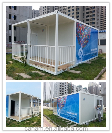 Modular prefabricated container house with EPS sandwich panels