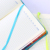 Creative stationery custom school student pu leather hardcover colourful diary journal dot grid graph paper notebook
