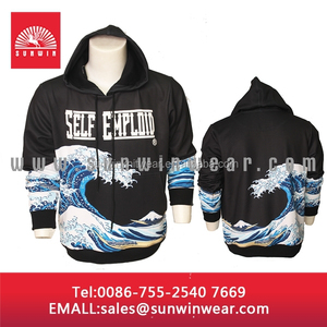 Custom Hoodie 2015 hotsale cut and sew dye sublimation embroidered custom made hoodies