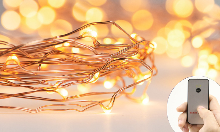 10m Mini Bulb String Lights Color-changing Solar String Lights Cheap String Lights Remote ...