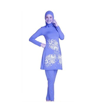 9bbc83c783f8f 2017 swimwear wholesales in muslim world ladies styles women fully Covered  muslim women swimwear with head