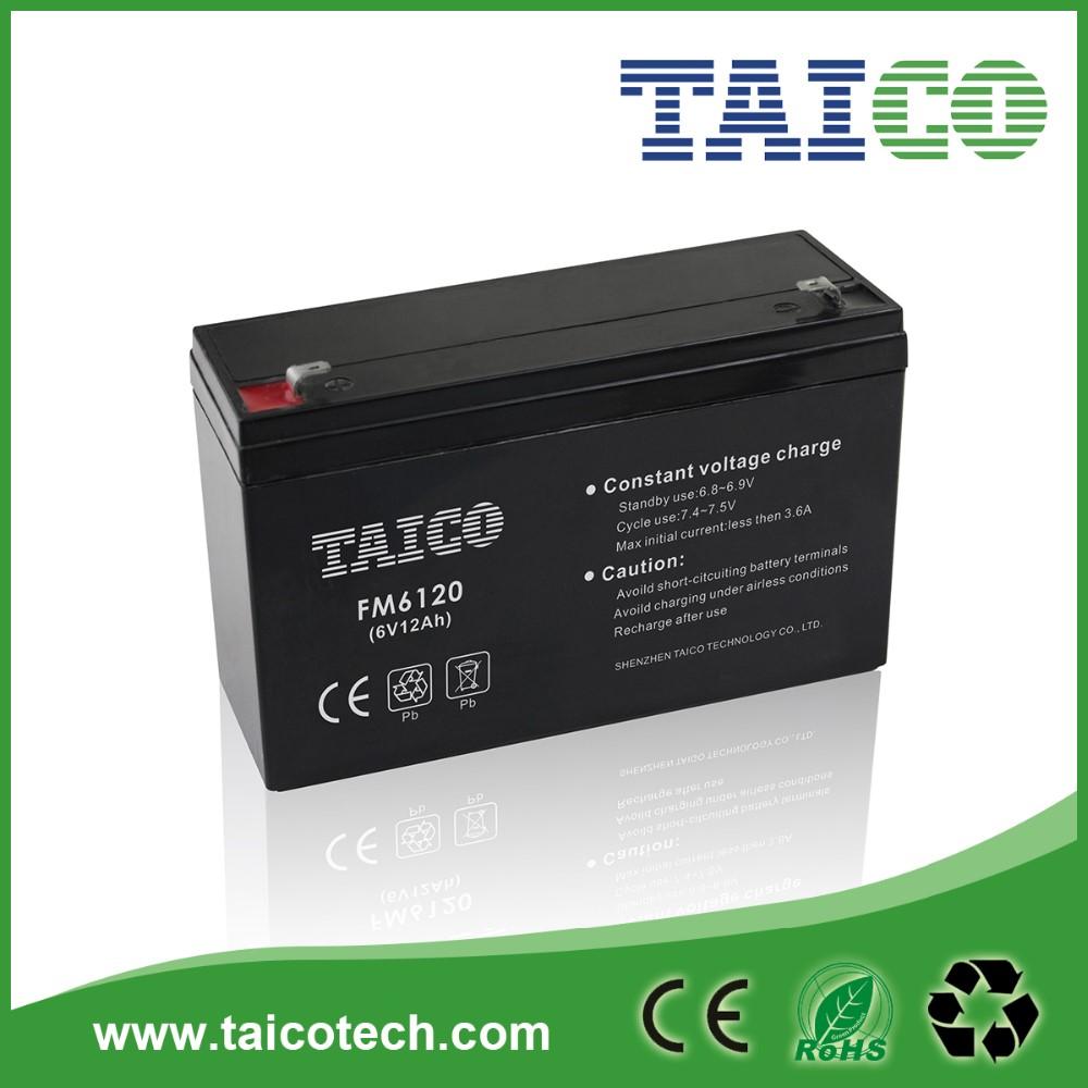6v 12ah Agm Sealed Lead Acid Battery Of China Supplier