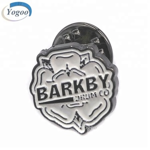 Fancy Custom Embossed Metal Enamel Lapel Pin Badge with Your Own Design