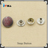 custom flower logo ring snap fasteners for clothes