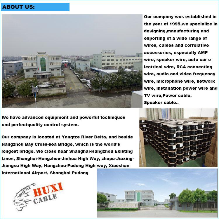 Huxi-केबल फैक्टरी सस्ते कीमत उच्च गुणवत्ता 4AWG स्थापना के साथ तार के लिए कार ऑडियो एम्पलीफायर