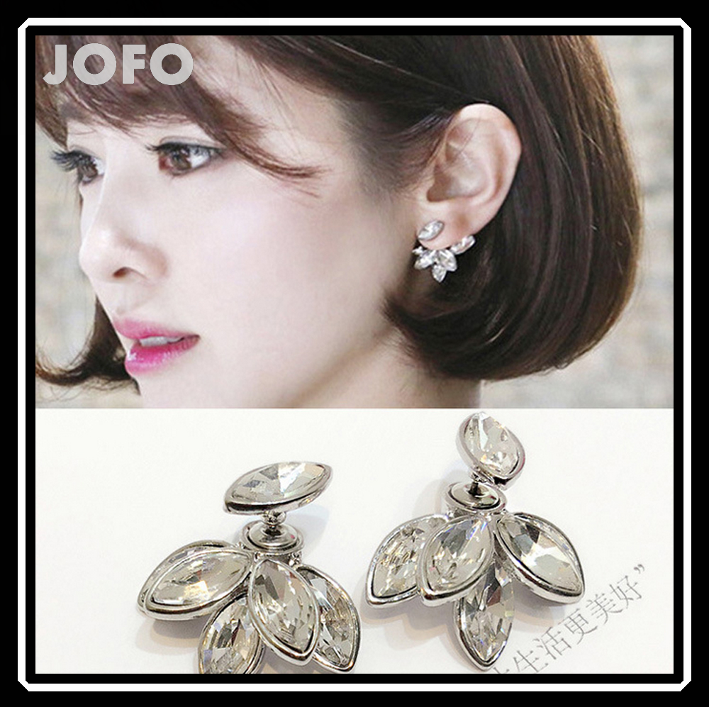 Korean Style handmade crystal Glowworm earrings 925 sterling silver earring post, branded earring