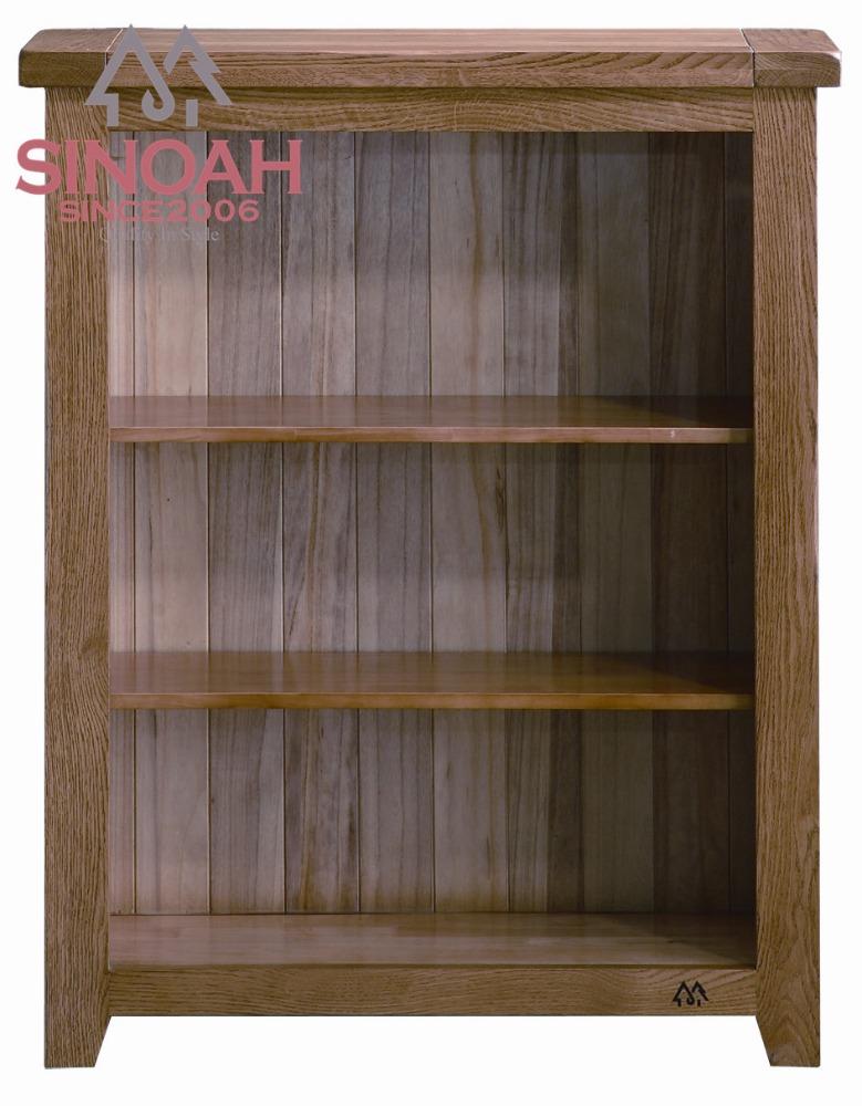 nieuwe ontwerp massief eiken lage boekenkastbreed eikenhout boekenkast