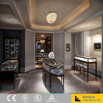 Interior Design Ideas Jewellery Shops Boutique Shop Counter Stainless Steel Jewelry Display Showcase
