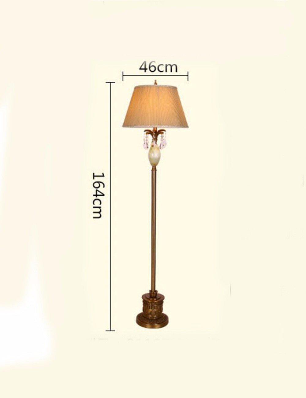 CJSHVR-European style table lamp, European style all copper desk lamp, floor lamp, modern simple bedroom, living room, study hall, creative study desk lamp,B