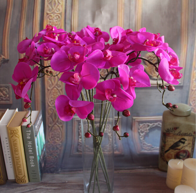Gnw White Artificial Latex Flowers Bulk Silk Orchids For Sale ...
