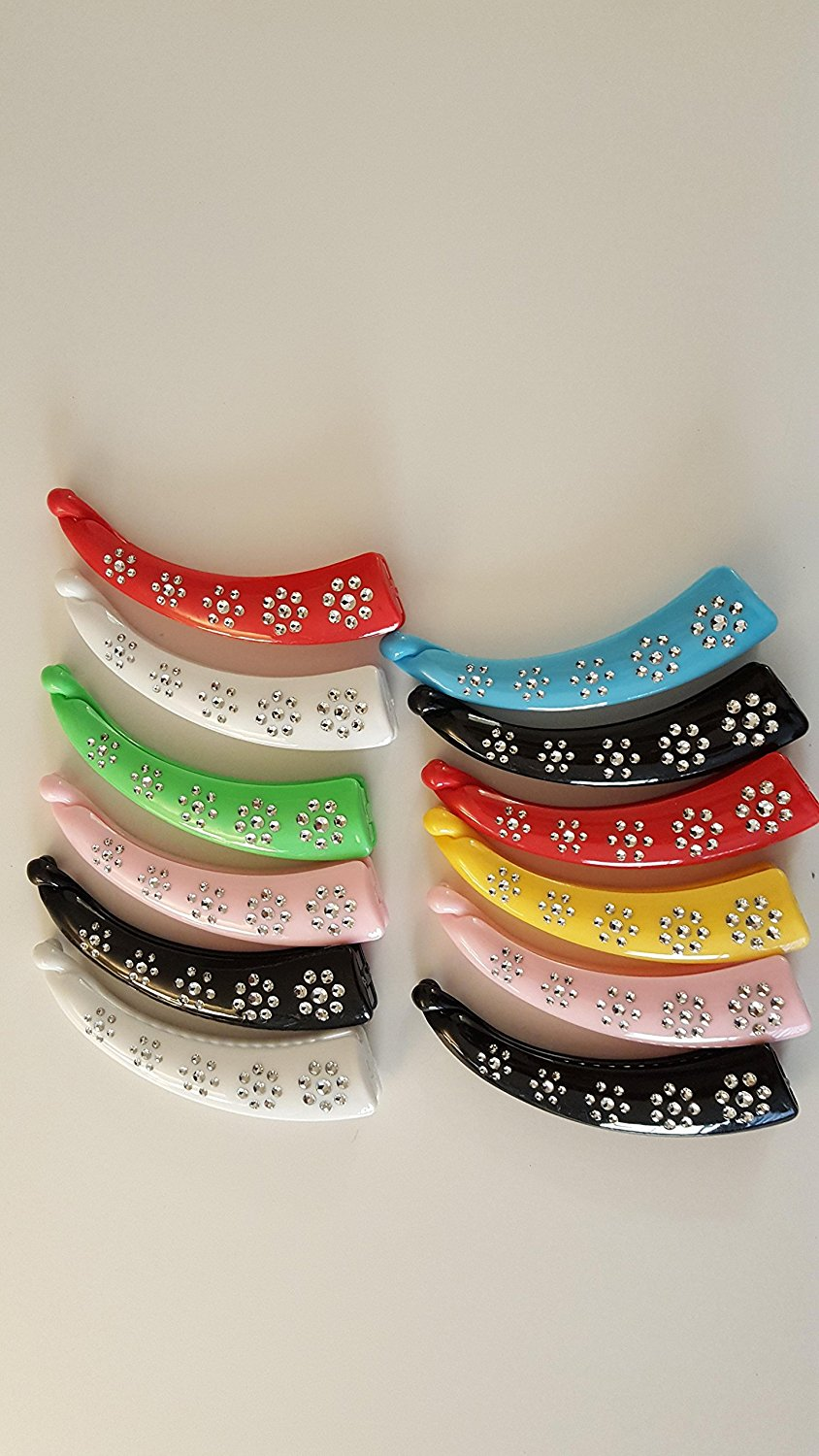 Get Quotations 12 Pieces Banana Clips Hair Combs Multi Color