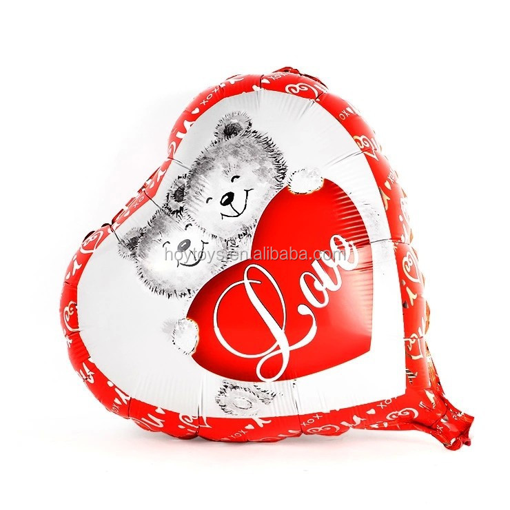 hot sale cheap cartoon foil balloons/heart shape balloons