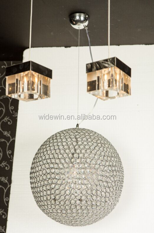 Led Crystal Ball Pendant Lamp The Sitting Room Lamp Lights ...