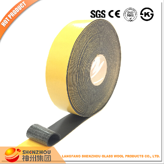 SPONGE NEOPRENE STRIPPING WITH ADHESIVE 1 INCH